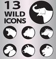 icon wild vector image vector image