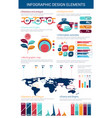 infographic design element with graph and chart vector image vector image