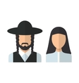 Judaic man and woman vector image