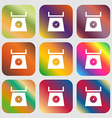 kitchen scales icon sign Nine buttons with bright vector image vector image