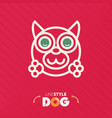 line style dog vector image vector image