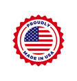 made in usa american quality flag seal icon vector image vector image