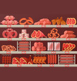 meat product at butcher store or shop stall vector image