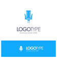 microphone multimedia record song blue logo vector image vector image