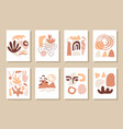 modern abstract cover templates set vector image vector image