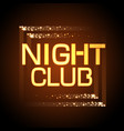 neon sign nignt club vector image vector image