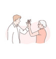 old and young age congratulation concept vector image
