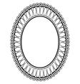 oval ornamental decorative frame vector image