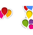 party balloons in cut out style vector image