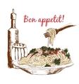 Pasta Bon appetit vector image
