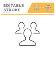 people group editable stroke line icon vector image vector image