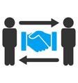 persons handshake exchange icon vector image vector image