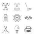 preparation icons set outline style vector image vector image