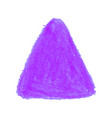 purple crayon scribble texture stain triangle vector image