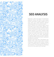 seo analysis line pattern concept vector image