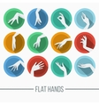 Set of icons in a flat style with a vector image vector image