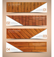 set wooden web banners vector image