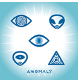 Space UFO Anomaly Icons vector image