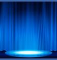 spotlight effect scene background vector image vector image