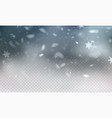 stock realistic falling snow vector image vector image