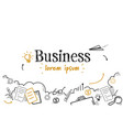 successful business strategy concept sketch doodle vector image vector image