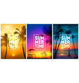 summer tropical beach backgrounds set with palms vector image vector image