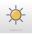 Sun icon Meteorology Weather vector image