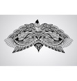 tattoo black hand drawn highly detailed eagle vector image vector image
