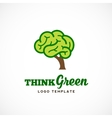 Think Green Abstract Eco Logo Template vector image vector image