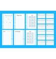 To do list Template 2017 vector image vector image
