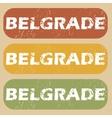 Vintage Belgrade stamp set vector image vector image