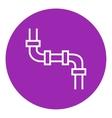 Water pipeline line icon vector image vector image