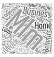 Work From Home MLM Business Opportunity Word Cloud vector image vector image