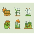 Ecological icons set Eco bio and environment vector image