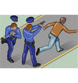 Isometric Policeman and Robber vector image