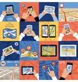 Set of 16 icons GPS Navigation vector image