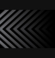 abstract black gray arrows pattern in shadow vector image
