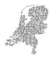 abstract schematic map of netherlands from the vector image vector image
