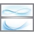 Abstract smoke wavy banners vector image vector image