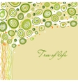 Abstract tree of life in soft colors vector image