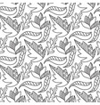 autumn leaves seamless pattern repeating vector image