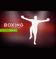 boxer silhouette winner vector image