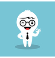 businessman cartoon showing ok sign hand gesture vector image vector image