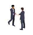 businessmen isometric icon vector image