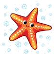 Cartoon starfish vector image