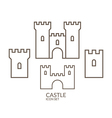 Castle Icon set Outline vector image vector image