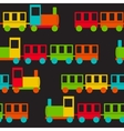 Children Train Seamless Pattern vector image