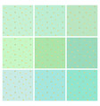 collection of mint backgrounds with small stars vector image vector image