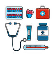 color healthcare medications tools icon vector image vector image