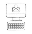 computer receiving email message digital vector image vector image